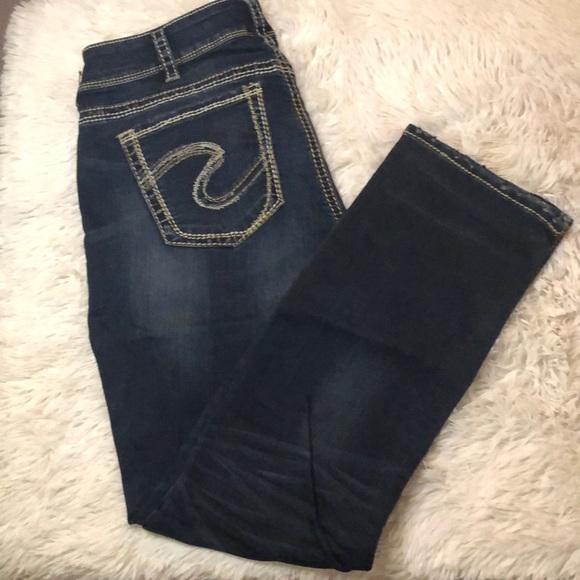 Silver Jeans Suki dark wash denim jeans